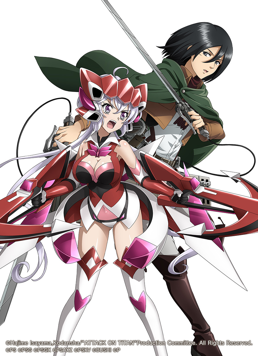 Symphogear XD Unlimited Attack on Titan