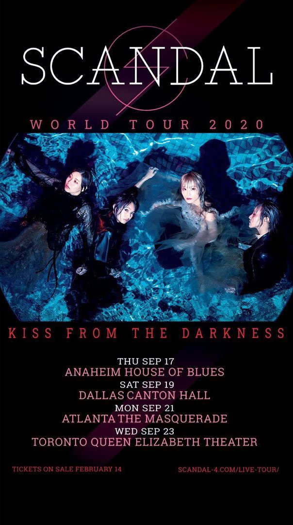 SCANDAL Kiss from the Darkness Tour