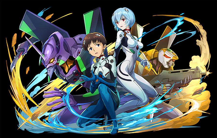 Puzzle and Dragons Evangelion Shinji Rei